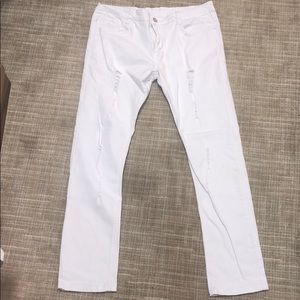 Other - Distressed white skinny jeans